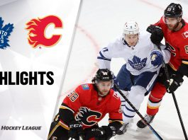 Leafs vs Flames in NHL Action