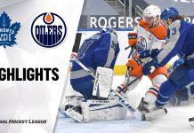 NHL Maple Leafs vs Oilers
