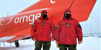 Sergeant Mattherw Gull and Master Corporal Pamela Chookomoolin were among the Canadian Rangers who assisted Ornge in the Covid vaccine inoculation program in Peawanuck. credit Master Corporal Jason Hunter, Canadian Rangers