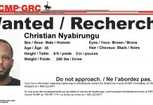 Christian Nyabirungu is wanted on a Canada Wide Warrant by Alberta RCMP