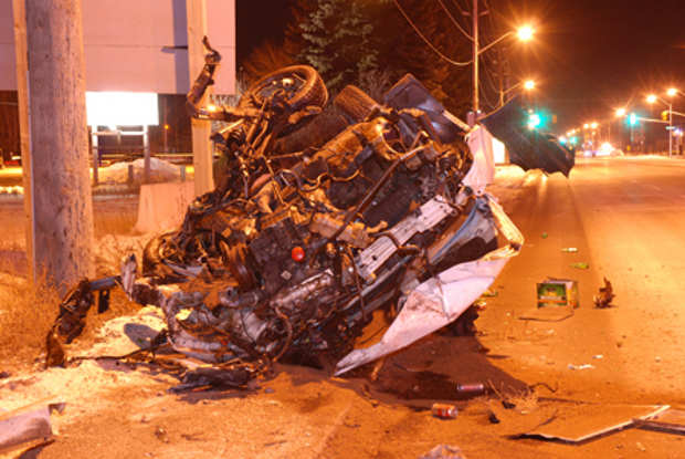 Arthur Street Accident - Image by Thunder Bay Police Service