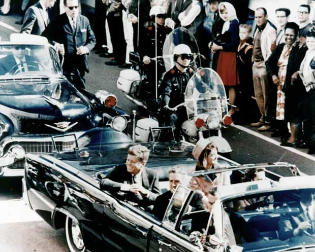 President Kennedy and Mrs. Kennedy in limo in Dallas on November 22 1963