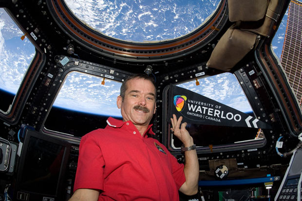 Canadian Astronaut Chris Hatfield from Space Station