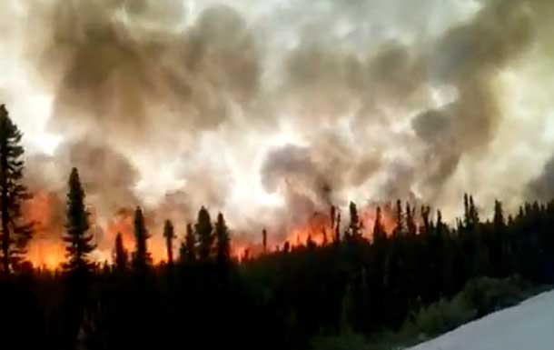 James Bay Highway - photo by Maxime Duperre Forest Fire