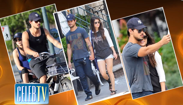 Hollywood hunk Taylor Lautner and Tracers costar Marie Avgeropoulos finally went public for the first time