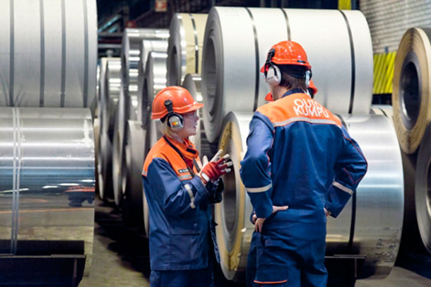 Outokumpu Stainless Steel Plant Tornio, Finland. Outokumpu Group is the largest stainless steel producer in the world.