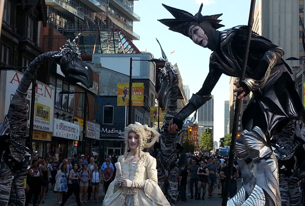 The Toronto Buskerfest is generating amazing excitement on Yonge Street