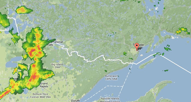 Weather Radar Map at 17:00EDT (GMT-5) August 31 2013
