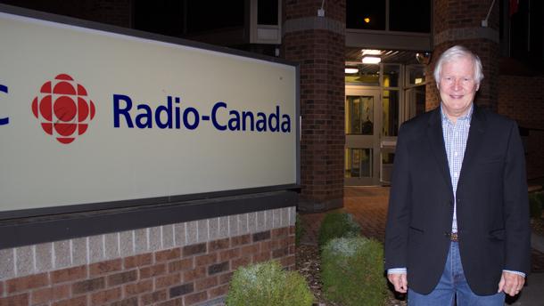 Don Edwards at the CBC Thunder Bay Studios