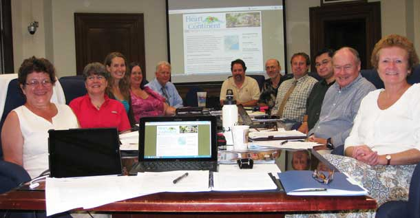 Design Team members gathered in Duluth August 27th to begin planning the Geotourism Initiative. Pictured (l-r) are: Mary Somnis, Ardy Nurmi-Wilberg, Andrea Gryko, Sandy Skrein, Joe Scipioni, Peter Smerud, Bret Hesla, Eric Johnson, Gord Knowles, Doug Franchot, Judy Ness. Not pictured: Frank Jewell, Tawnya Schoewe, Clara Butikofer, Bill Hanson, Chris Ficek, John Cameron.