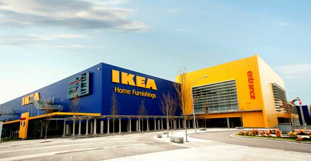 IKEA has stores all over the world, including lots of Canadian cities.