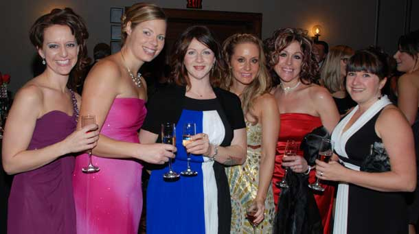 Beautiful ladies at the annual Save a Heart Ball