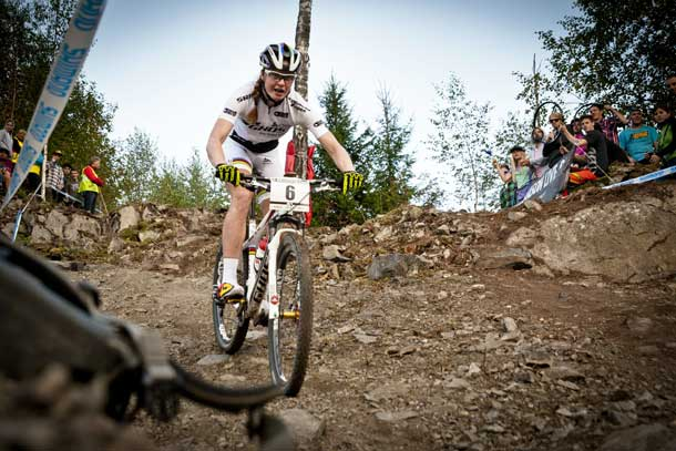 UCI Mountain Bike World Cup 2013 - Hafjell: Alexandra Engen - Action