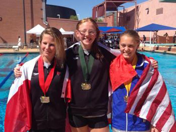 Caeli McKay, Molly Carlson & Alison Gibson - Two medals for Canadian Divers
