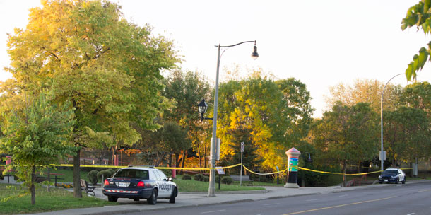 Thunder Bay Police have Kam River Park taped off at 08:15AM.