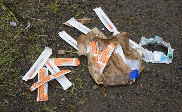 Syringes litter the streets and alleyways. Superior Points doesn't work weekends.
