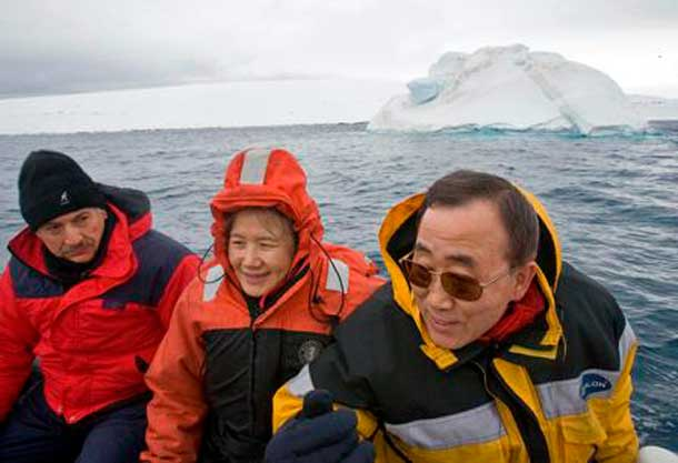 Visiting Antarctica with my wife, Yoo Soon-taek,we saw first-hand the effects of climate change on melting glaciers.