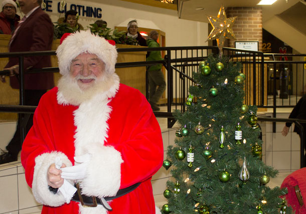 Santa at Victoriaville, there is no word if he is using an iPad to record his list this year.