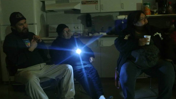 Working through the crisis in Attawapiskat - The lights might have been out, the work went on