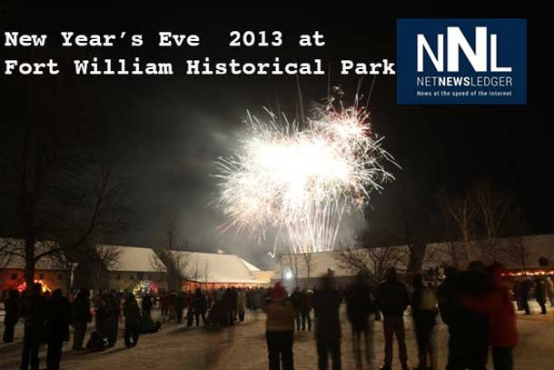 Fireworks and family fun at Fort William Historical Park on New Year's Eve