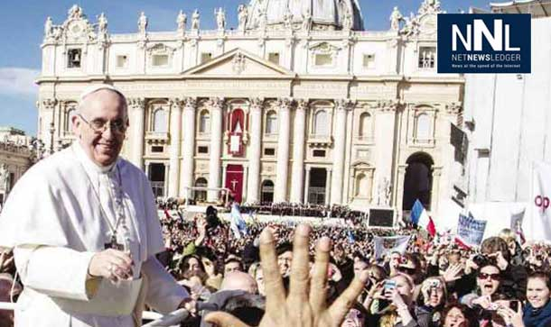 Pope Francis in St. Peter's Square - stock image
