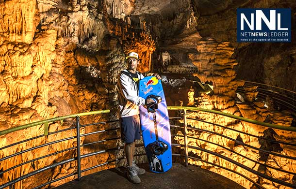 A journey on a wakeboard through the Jetta Grotto in Lebanon