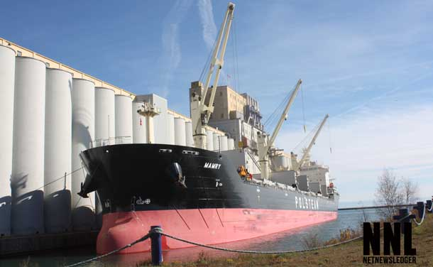 Loading Grain on a Saltie in the Port of Thunder Bay - Photo courtesy Port Authority