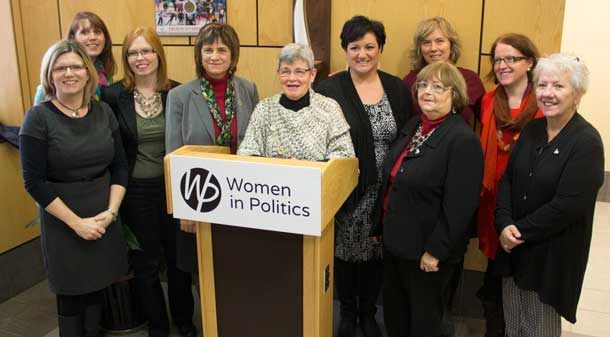 Having more women represented in civic, provincial and federal politics is a non-partisan effort with women reaching across political lines.