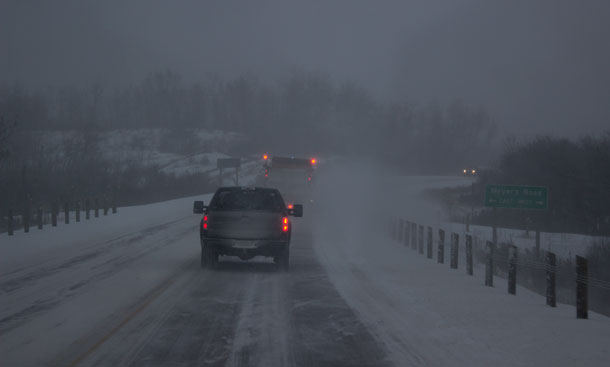 Winter road conditions have arrived in Northwestern Ontario