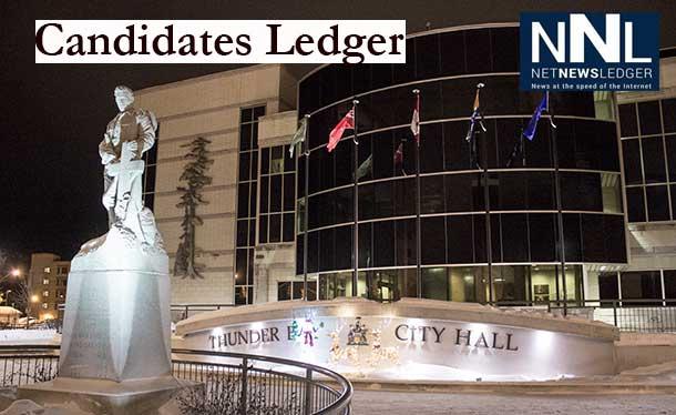Candidate's Ledger Thunder Bay Civic Election 2014
