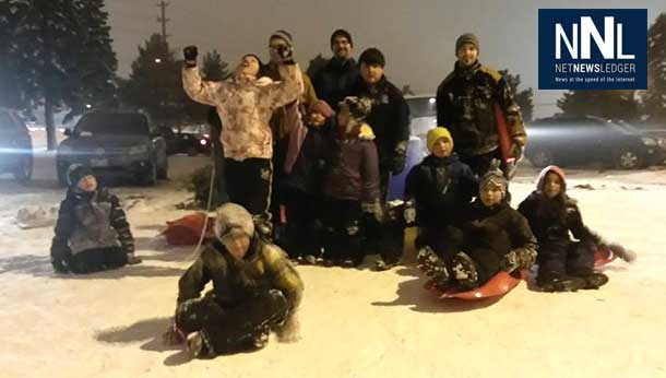 Members of the Community Action Group from Windsor Neighbourhood enjoy sliding at Balsam - Photo by Alaina King