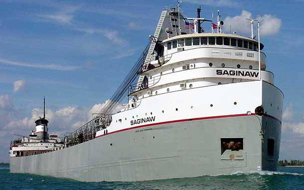 The MV Saginaw a grain carrier in the Port of Thunder Bay