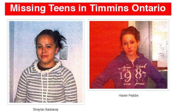 Timmins Police seek public help finding two missing teenage girls