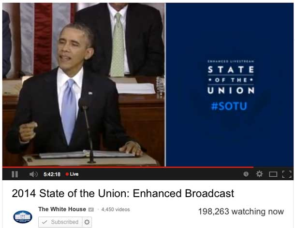 New technology allowing the President to take his message directly to the public.