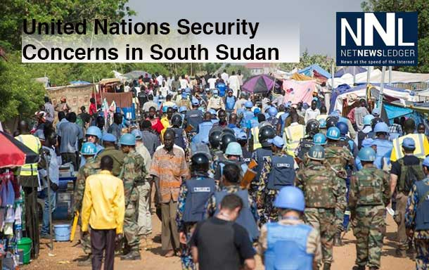 UNMISS personnel conducting a security sweep in its Juba camp to rid it of weapons and smuggled goods, including military and police uniforms. Photo: UNMISS/Isaac Bill