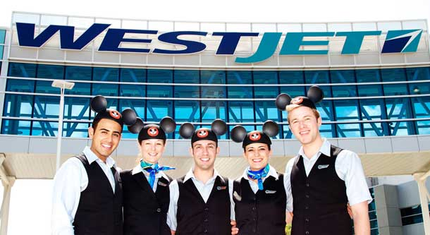 Westjet offers flights to Disney resorts and has updated the company's flight schedule.