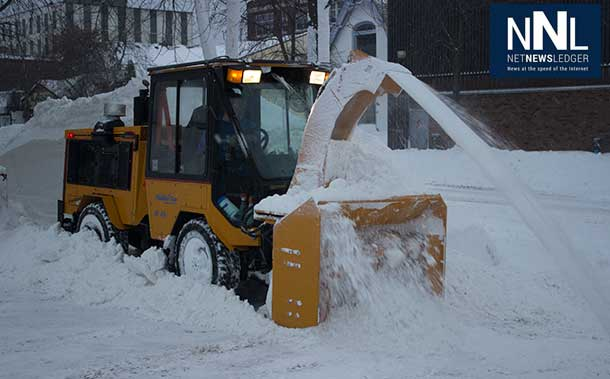 City of Thunder Bay snow clearing is underway.