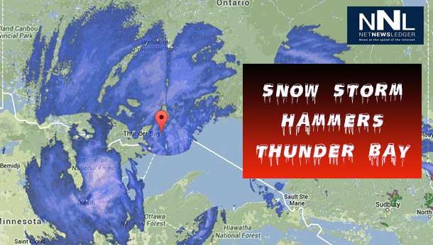 Snow Storm Hammers Thunder Bay