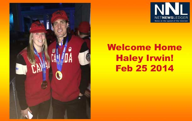 Help Welcome Home Haley Irwin at the Thunder Bay International Airport