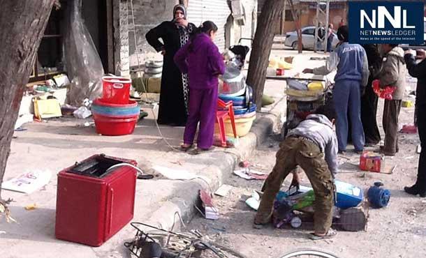 Residents of Homs, Syria, in March 2012. Photo: OCHA/Jutta Hinkkanen