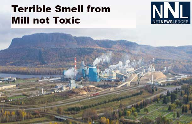 Thunder Bay South was engulfed in a terrible smell that has been traced to the Resolute Mill on Neebing Ave.