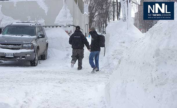 Tall Snowbanks last February, from the massive amount of snow