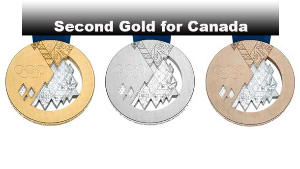 Canada has its second Gold Medal at the Sochi 2014 Winter Games
