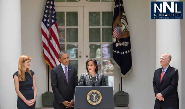 Susan Rice at the White House with President Obama