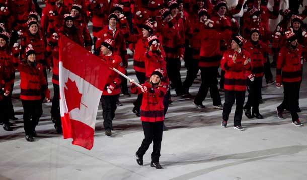 Team Canada Standing Proud in Sochi