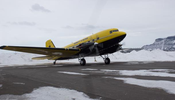 Cargo North Basler BT-67 at the Thunder Bay International Airport