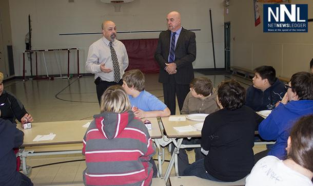 Mayor Hobbs addresses students at St Jude's School