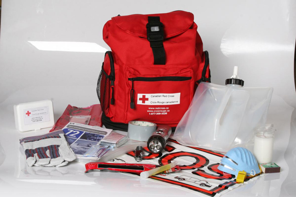 The Canadian Red Cross suggests a vehicle and home safety kit.