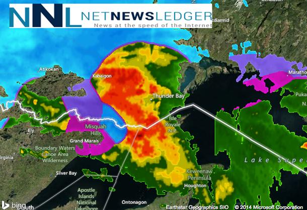 Thunder Bay Radar Map NetNewsLedger   Thunder Bay and Region Weather Update   April 1 2014