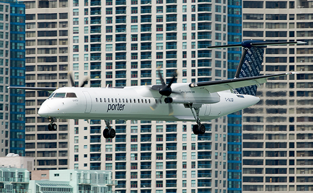 Porter Airlines is growing again. Flights to sunny places are part of the Porter plan.